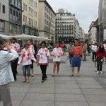 flash mob walks through inner city and becomes tourist attraction