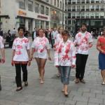 Flash mob walks through inner city
